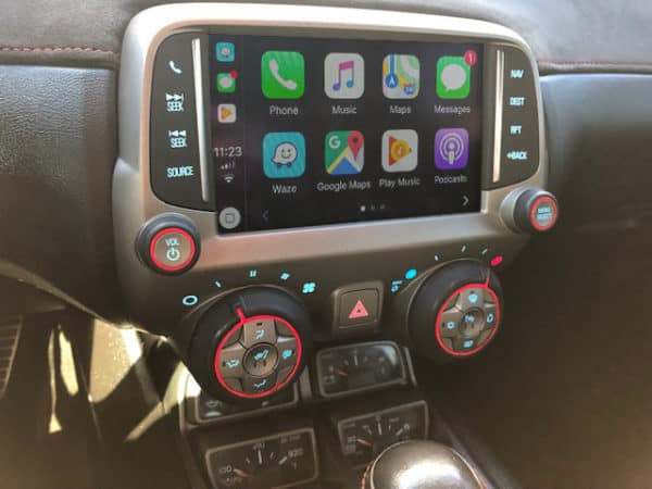 Chevy Camaro AutoPlay Interface On Screen