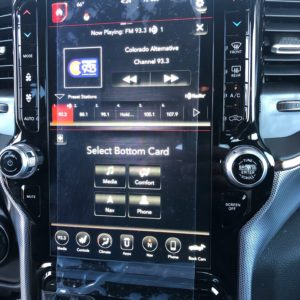 Dodge Ram 12 inch screen UAX Navigation with Apple Carplay and Android Auto Compatibility